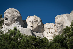 Mount Trumpmore (si_glogiewicz) Tags: president presidents mount rushmore america trump donald rock stone photoshop more trees sky blue carvings