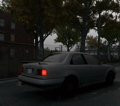 In slowmo (Brandon ProjectZ) Tags: watchdogs chicago windy overcast rain car lights roads trees natural lighting