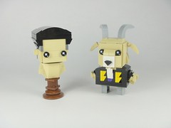 Lonzo Bust & Lavar Goat (YOS Bricks) Tags: lakers bbb lavar lonzo zo nba brickheadz