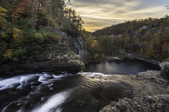 DeSoto Falling (Longleaf.Photography) Tags: sunset desoto falls al alabama ftpayne mentone lrc autumn fall waterfall leaves scenic