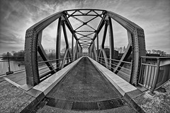Brandenburger Brücke rebuilt  [Explored 2017-11-17] (T.Seifer) Tags: architecture architektur blackandwhite blackwhite bridge brücke einfarbig europe fx fisheye hamburg monochrome outdoors photography schwarzweis tourism whiteandblack whiteblack weisschwarz weitwinkel wolken clouds