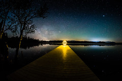 Light Object (*Capture the Moment*) Tags: 2017 f28 fisheye kirchsee lakekirchsee lichtobjekt lightobject milchstrasse milkyway reflection reflections reflexion sonya7m2 sonya7mii sonya7ii sonyilce7m2 walimexpro