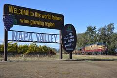 ALCos and black flags (CN Southwell) Tags: napa valley rr railroad wine train alco fa fpa4 rs11