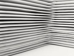 324/365 With Thanks..... (Helen Orozco) Tags: withthanks envelopes stack atwork 2017365 abstract random geometric white geometriegeometry corner interlock