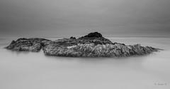 (Masako Metz) Tags: vessel island low tide beach rock oregon coast pacific northwest ocean sea water landscape seascape nature longexposure blackandwhite monochrome coastal coastline shore shoreline simple simplicity