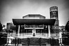 The Lowry (aljones27) Tags: manchester city rain raining wet building salford salfordquays bw monochrome blackandwhite lowry thelowry
