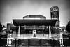 The Lowry (aljones27) Tags: manchester city rain raining wet building salford salfordquays bw monochrome blackandwhite lowry thelowry
