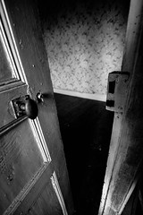 In. (AloysiaVanTodd) Tags: urban explore explorer urbex natural light home house abandoned creepy dark darkness dismal decay shadows sombre soul sensitivity shades door bnw bw blackandwhite black