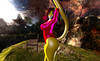 Swimsuit 4 (goldenkitty1) Tags: swimsuit furry fur golden kitty red yellow pink yiffy yiff beautiful cat catgirl tail gata gatita curves hips ass butt culo sexy