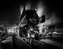 Pacific 01 202 (Steven-ch) Tags: night henschelsohn historic steamengines deutschereichsbahn locomotive canon pacific01202 dampftag kassel longexposure summer train eos6d dampflokomotive schlepptenderlokomotive nostalgic railway bw hdr vereinpacific01202 lyss bern switzerland ch