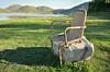 Un'onorata carriera miseramente stroncata... (Il cantore) Tags: sedia chair rotto broken sasso stone prato grass meadow erva verde green lago lake ombra shadow
