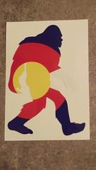 Colorado Bigfoot Vinyl (BargeCaptain) Tags: colorado vinyl bigfoot window decal yeti sasquatch