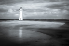 New Brighton Lighthouse (Alan E Taylor) Tags: architecture atmospheric bw bw10stopfilter beach blackwhite blackandwhite building cloud coast coastal dark dramatic england europe fineart le location lighthouse lightroom liverpool longexposure macphun macphunluminar2018 mono monochrome newbrighton noiretblanc ocean rain reflection sand sea shore sky storm tourism tourist travel uk unitedkingdom wallasey weather coastline peaceful tranquil