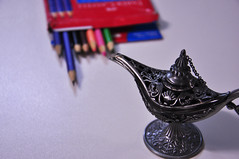 objects (medeirosisabel16) Tags: foco desfoque object objeto colored pencils pencil cor lápis lamp lâmpada school escola