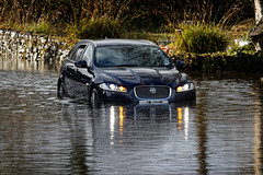 Big Cat takes to Water (ttbeep) Tags: jaguar flooding yealand canoneos700d car floodsnrmorecombe westcoastofengland