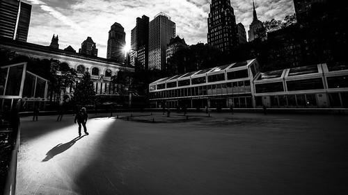 Bryant Park - New York - Black and white street photography