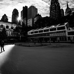 Bryant Park - New York - Black and white street photography thumbnail