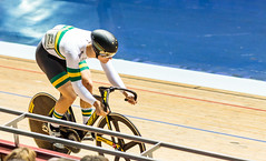 Visored (Meredith Lewis) Tags: manchester bicycle england gb greatbritain velodrome cyclist britain sprint unitedkingdom greatermanchester matthewglaetzer 2017tissotucitrackcyclingworldcupmanchester nationalcyclingcentre europe uk cycling