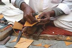 The working hands (M. Carpentier) Tags: market churu india shoemaker cordonnier hands mains souliers shoes