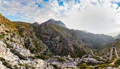 Road to Sa Calobra (hl_1001) Tags: spain mallorca road mountain landscape backlight sky street viewpoint panorama panoramic