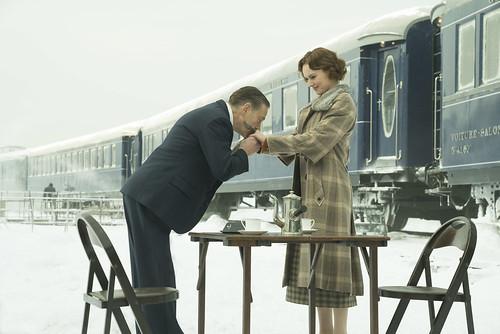 "Kenneth Branagh and Daisy Ridley star in Twentieth Century Fox's ""Murder on the Orient Express."""