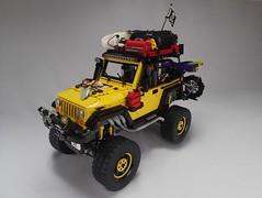 Modified Jeep Rubicon (Greeble_Scum) Tags: lego jeep wrangler rubicon moc technic power function yellow engine 4x4 off road creator