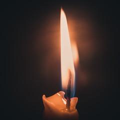 Macro Mondays: Stick (donnicky) Tags: macromondays blackbackground blurredbackground candle closeup dof fire home indoors light macro nopeople publicsec stick