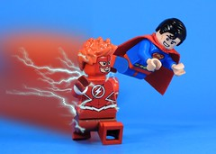Superman & Wally (MrKjito) Tags: lego superman flash wally west titans dc rebirth comics comic minifig super hero decal run waterslide declas