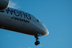 Straight from Tokyo (tomi.a) Tags: aviation aviationphotography airplane finnair a350 airbus landing sky blue white clouds plane ohlwb helsinki vantaa