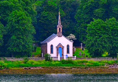 Scotland West Highlands Argyll a nice little church near Tighnabruaich 21 June 2017 by Anne MacKay (Anne MacKay images of interest & wonder) Tags: scotland west highlands argyll little church sea coast trees tighnabruaich xs1 21 june 2017 picture by anne mackay