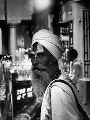 The Stranger. (Dev WR) Tags: varanasi india holi festival stranger candid monochrome blackandwhite man male street streetphotography olympus omd