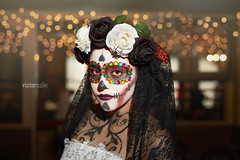Dia De Los Muertos - Yanelly (victorcolinart) Tags: diasdelosmuertos sugarskull halloween girl makeup model photoshoot profoto canon 5dsr sigma adobergb portrait victorcolin diadelosmuertos dayofthedead