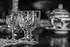 84/100: What's your tipple? (judi may) Tags: malta naxxar 100xthe2017edition 100x2017 image84100 monochromebokehthursday monochrome mono blackandwhite bokeh dof depthoffield glasses glassware table tureen tablesetting canon7d 50mm