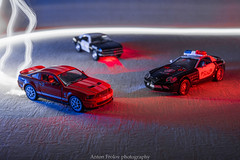Hot pursuit (anton_frolov) Tags: car road light lights police polis mercedes ford shelby mustang musclecar muscle auto longexposure glow sony a6000 idea chase fast nitro cars autofocus