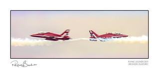 Roger? - you just missed him. Thank Goodness! The Red Arrows