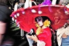 Young Girl With Sombrero (Joey Z1) Tags: younggirlwithsombrero redsombrero diadelosmuertos diadelosmuertossombrero dayofthedeadcelebration dayofthedead diademuertosathollywoodforevercemetery nightscene nightscenelosangeles mexicantradition latinlife latintradition latinlifela hollywoodforevercemetery lalife sola polychromatic pentaxks1 bylaphotolaureatejoeyzanotti