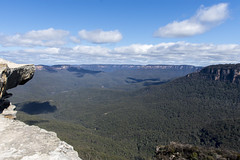 lincoln's rock, blue mountains (Greg Rohan) Tags: nature bluemountains lincoln'srock d7200 2017 sky forest tree trees green clouds landscape mountain nsw australia rock bush