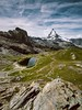 View at Matterhorn (karolklaczynski) Tags: fuji fujifilm xt1 matterhorn gornergrat swiss switzerland suisse landscape peak mountain clouds cloudy rocks lake majestatic mountainside pennine alps swissalps travel travelphotography trek trekking samyang 12mm pyramid rock sky