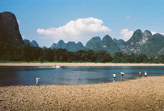 The Li river on a sunny afternoon