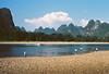 The Li river on a sunny afternoon (louis de champs) Tags: minoltasrt101 kodakektar100 pushed400 landscape china xingping liriver