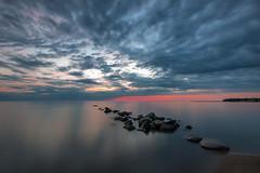 Port Elgin Sunset (B.E.K.) Tags: port elgin sunset ontario canada clouds water rocks shore beach coast longexposure lake huron outdoor landscape nikond800 nikon1735f28