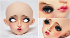 FP60 Cygne for peonyandivory (Eludys) Tags: fp60 feeple feeple60 fairyland sd13 doll faceup artist makeup commission customization