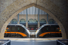 Double Vision (McTumshie) Tags: 180105 20171021 ashleyjacksontheyorkshireartist class180 london londonkingscross railway reflection station train england unitedkingdom
