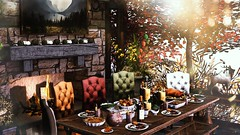 Harvest Feast (Alexa Maravilla/Spunknbrains) Tags: gallandhomes ultraevent artisanfantasy thegachagarden spargelshineshomes ddd dustbunny collabor88 ariskea dreamscapesartgallery keke secondlife outdoors thanksgiving food