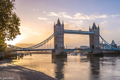 Tower Bridge during sunrise - London, England (patuffel) Tags: london tower bridge england sunrise great britain thames river explore