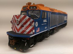 METRA 614 FRONT (Set and Centered) Tags: metra railroad model railroading ho scale 187 train passenger commuter emd f40c shapeways 3d printing circus city decals and graphics esu loksound electro motive divison 614 edward f brabec
