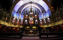 Notre-Dame Basilica of Montréal (Alex Mary) Tags: notredame montreal canada canon cathedral church travel building architecture glass