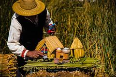 Puno region, Peru (David Ducoin) Tags: america boat ducoindavid family house peru puno smallsize southamerica titicaca totora uros pe