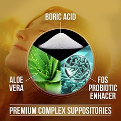 Boriotic Boric Acid Suppositories 800mg Complex w/ Aloe Vera & FOS Probiotic Enhancer, 30 Count | All Natural Made in USA #nutrablast #healthylife #probiotics #boric #alovera #yeastinfection #health #fit