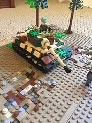 On the attack (Tiger 1) (totenkopf lego) Tags: moc tiger tank ww2 2 war world lego